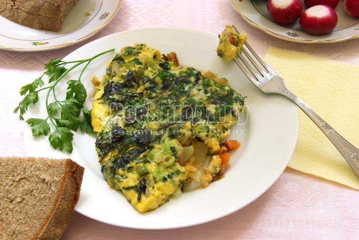 рецепт вкусного овощного омлета