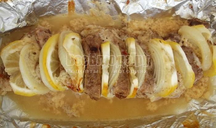 готовая свинина с лимонным соком