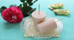 Мороженое из творога, кефира и черешни