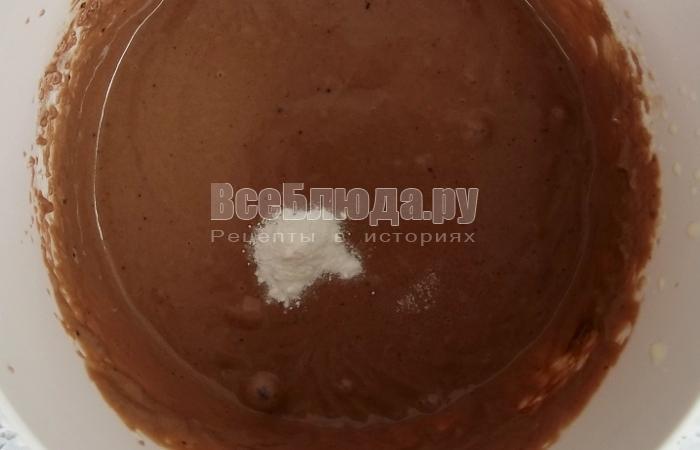 Оладьи с какао на йогурте