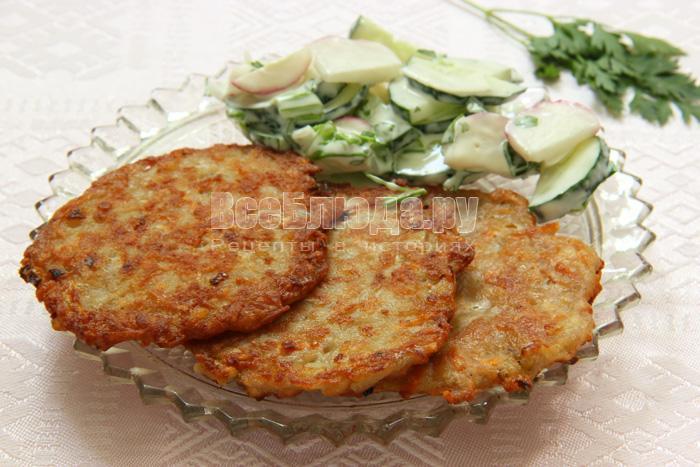 Картофельные драники с мясным фаршем, пошаговый рецепт с фото