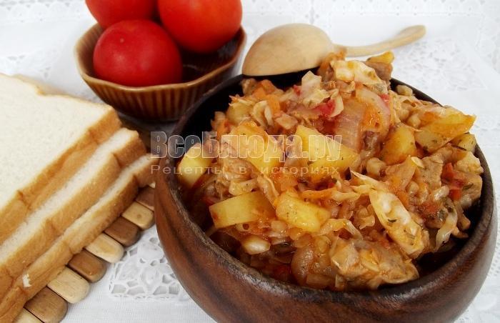 готовая солянка из квашенной капусты
