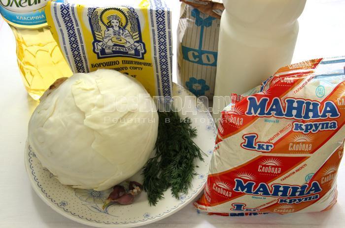 рецепт капустных котлет с манкой и молоком