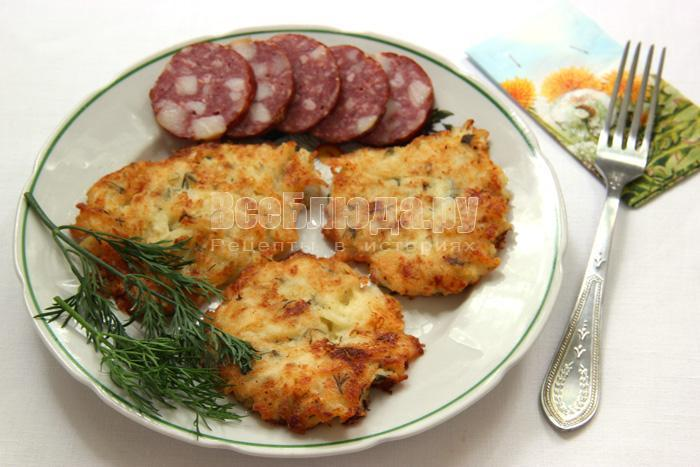 Рецепт капустных котлет (на молоке с манкой)