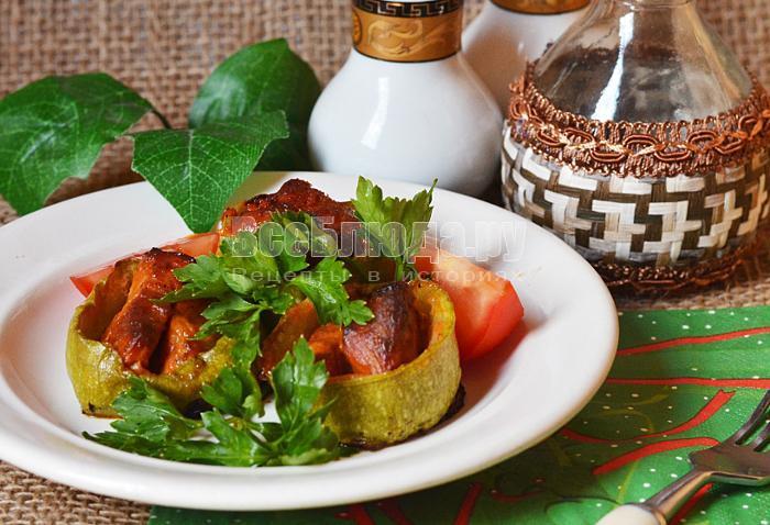 рецепт вкусного мяса с кабачками
