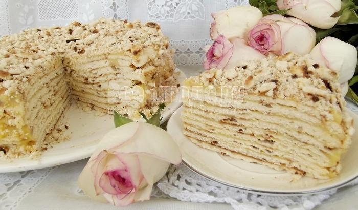 тортик с заварным кремом