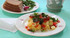 Рецепт пшенной каши, тушеной с овощами...