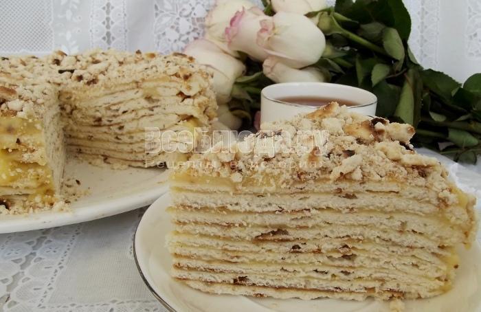 Торт Проще простого на сковороде с заварным кремом