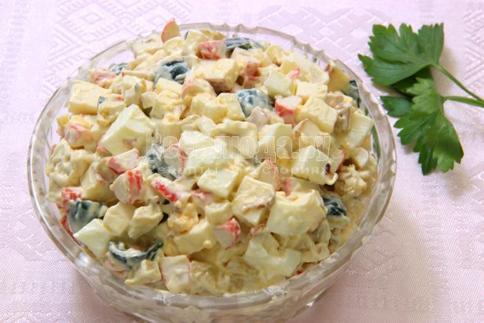 готовый крабовый салат