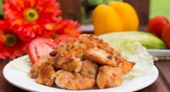 Куриное филе с содой и крахмалом