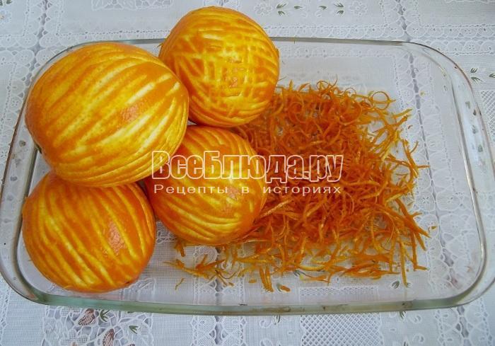 чистим все апельсины подобным образом