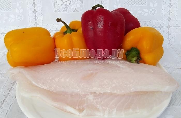ингредиенты для фаршировки перцев рыбой