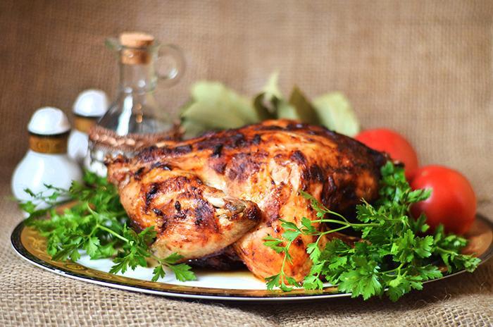 Запеченная курица по-мексикански в аэрогриле