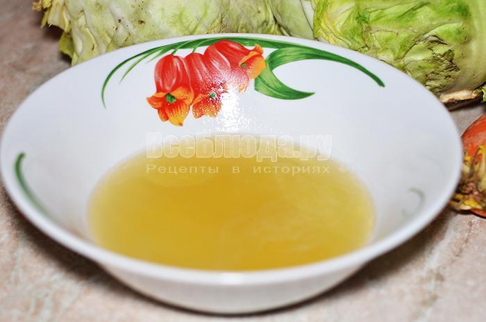 разбавьте мед водой
