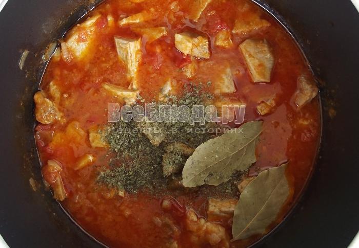 Свинина в томатном соусе - простой и очень вкусный рецепт