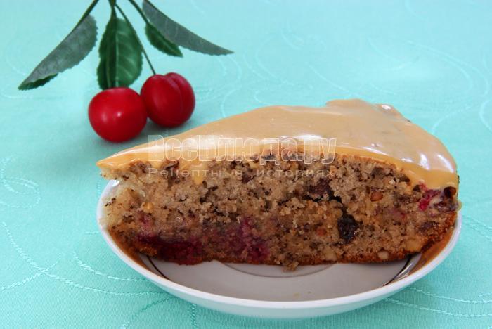 Рецепт вкусного торта с вишней (Вишенка)
