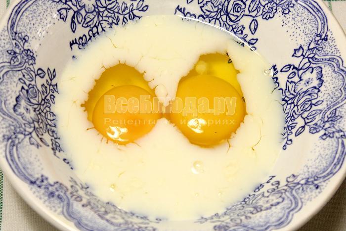 Смешали яйца со сливками