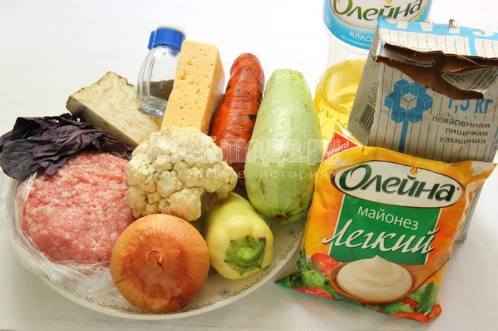 продукты для запеканки из индюшиного фарша