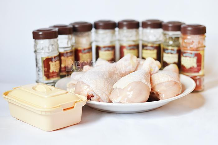 необходимые ингредиенты для запекания курятины в духовке