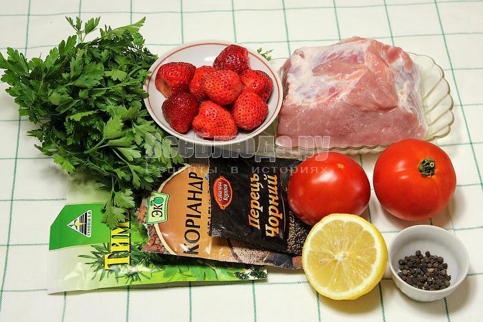 ингредиенты для приготовления сальсы