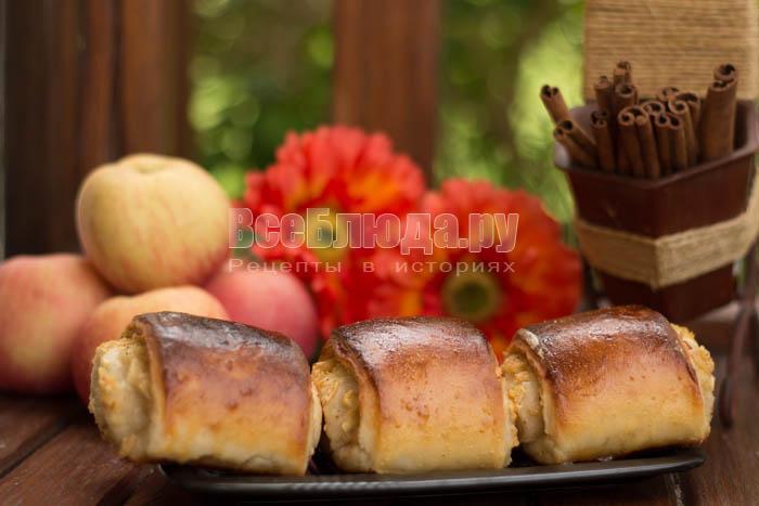 Мои любимые булочки (фото) - с яблоком и корицей