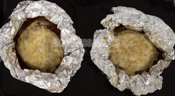 Мясо запеченное в фольге порционно - Узелки