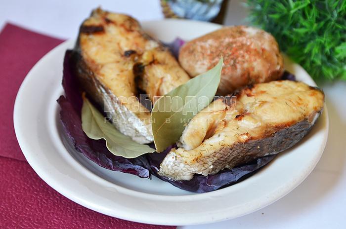 Радужная форель в аэрогриле с картофелем