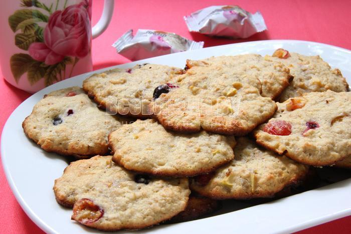 вкусное печенье из овсяных хлопьев мюсли