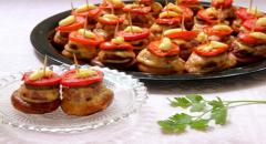 Рецепт бубликов с фаршем - закуска канапе