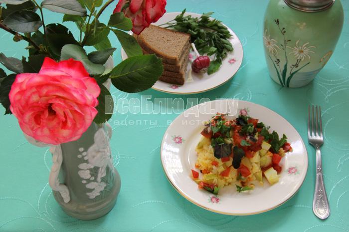 пшенка с овощами