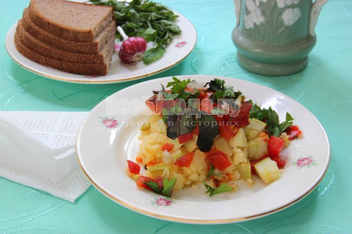 рецепт пшена с овощами