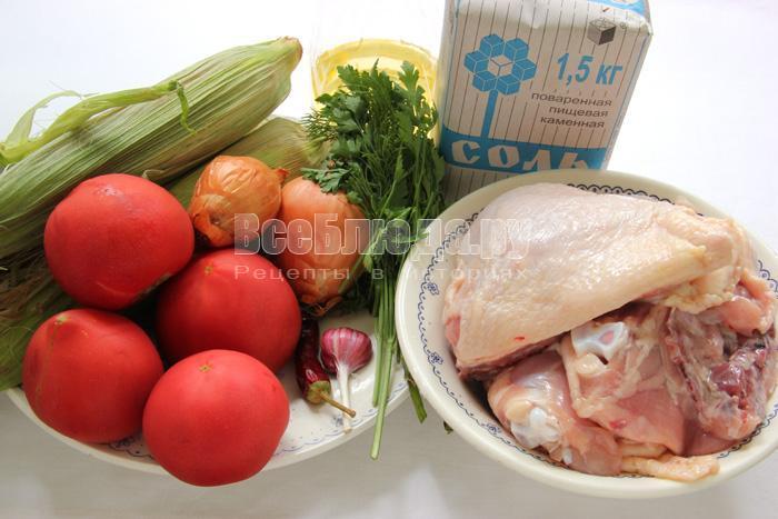 продукты для приготовления курицы по мексиканскому рецепту с овощами