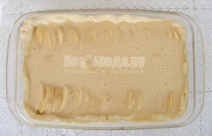 залить пирог