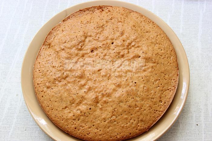 выложить кекс в форму и выпекать