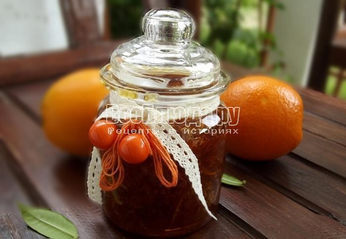 Рецепт вкусного, тягучего апельсинового варенья