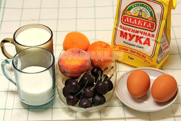 ингредиенты для кефирных оладьев