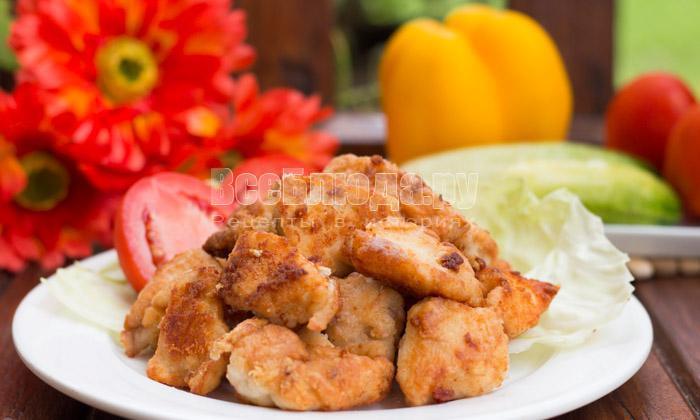 готовое куриное филе с содой и крахмалом