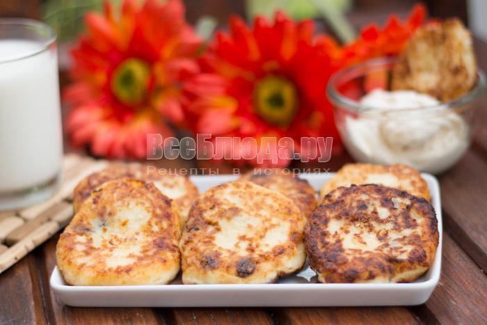 Рецепт сырников с изюмом