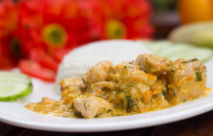 рецепт куриного филе в сливках
