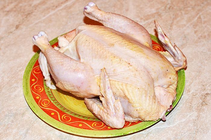 промойте курицу