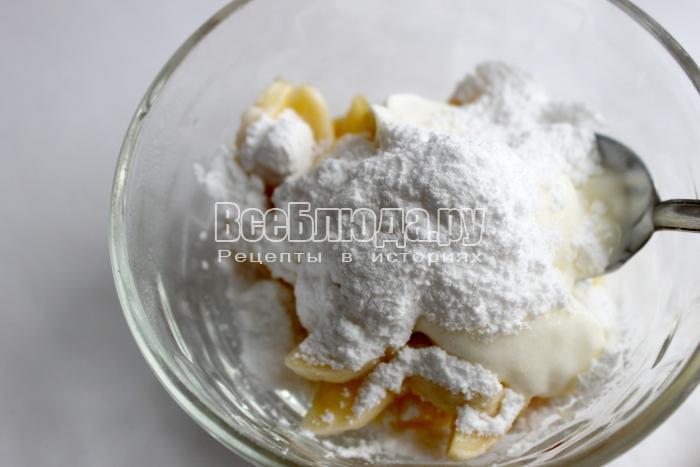 посыпьте сахарной пудрой