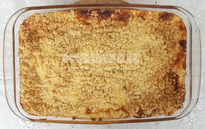готовый пирог из духовки