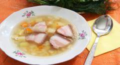 Как приготовить гороховый суп с копченой щековиной