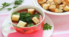 Рецепт холодного томатного супа Гаспачо по испанскому рецепту