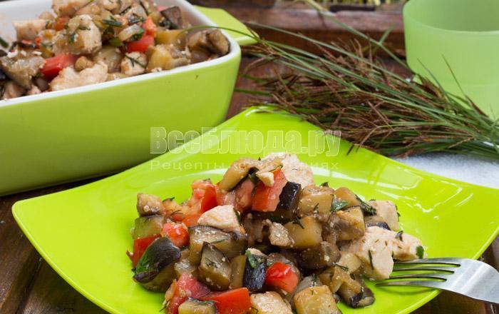 как приготовить вкусный салат с филе, помидорами и баклажанами