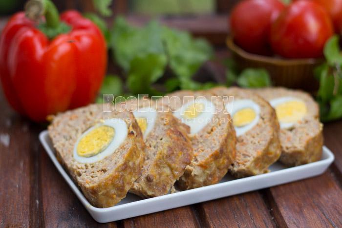 рецепт мясного рулета с яйцами