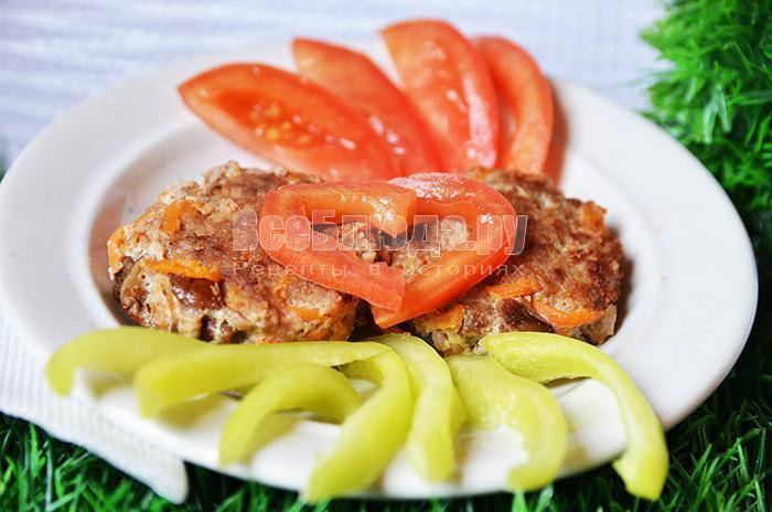 рецепт котлет с грибами и морковкой