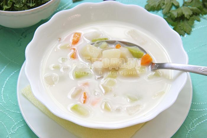 рецепт овощного супа с сыром