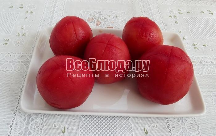снять кожуру с помидоров