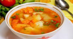 Рецепт овощного густого супа на курином бульоне